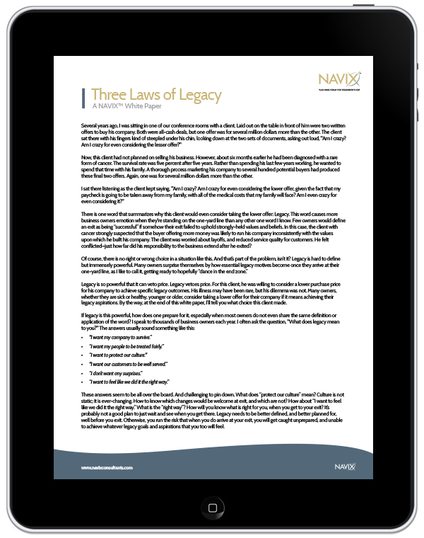 The Three Laws of Legacy (White Paper)