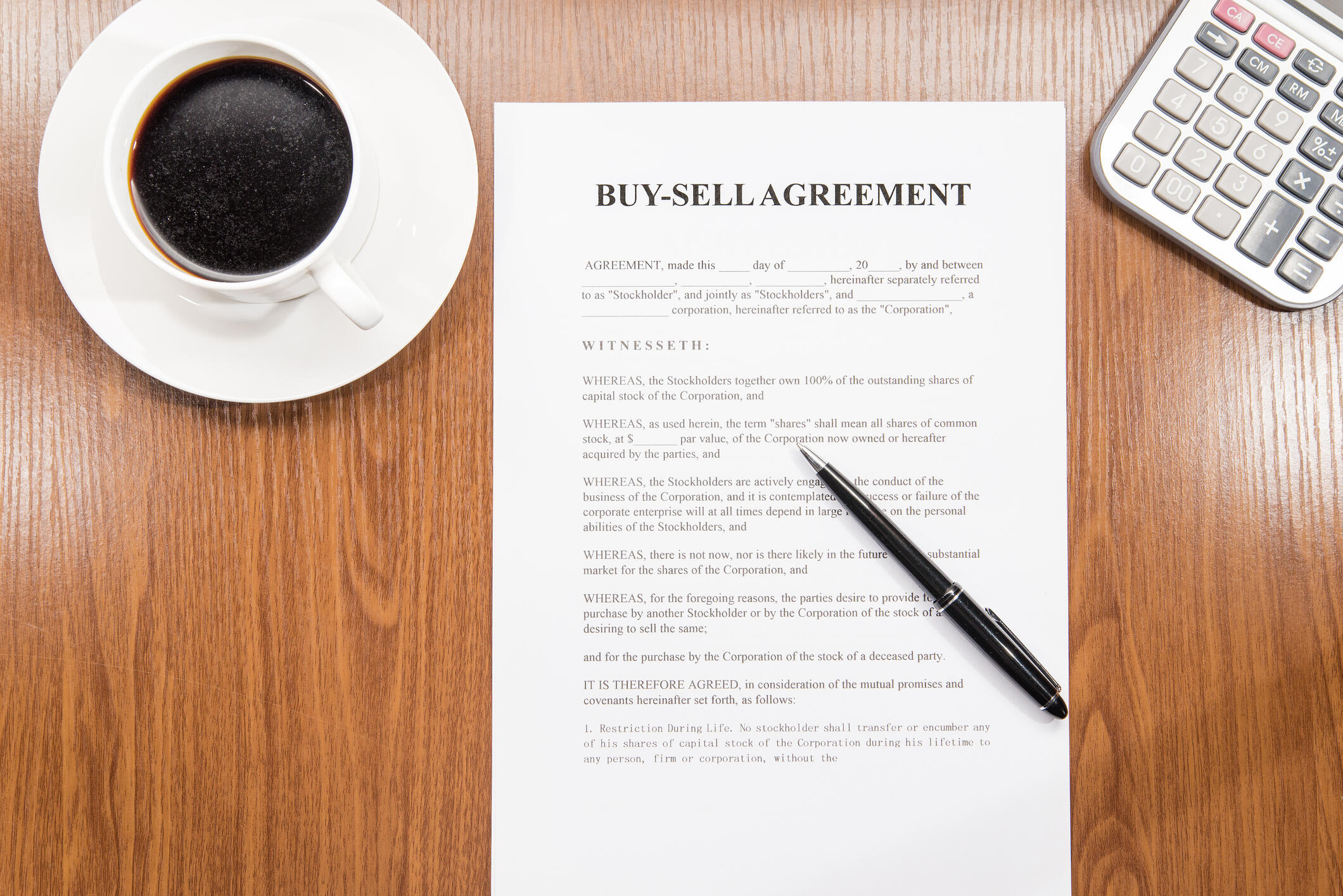 Buy Sell Agreement Document
