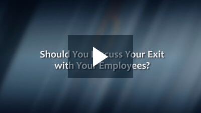 Should You Discuss Your Exit with Your Employees?