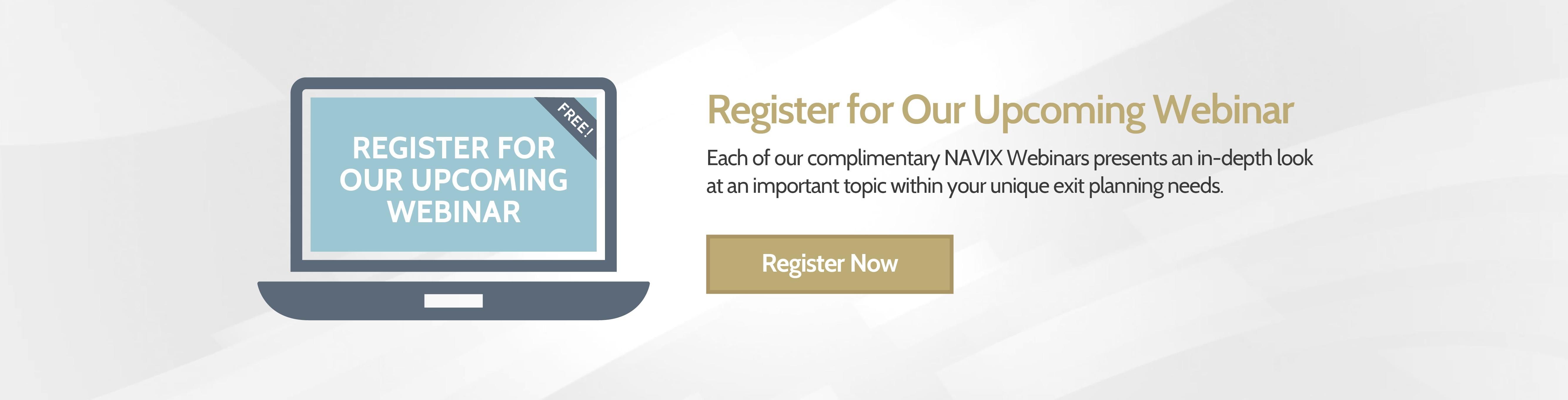 Register for Our Upcoming Webinar